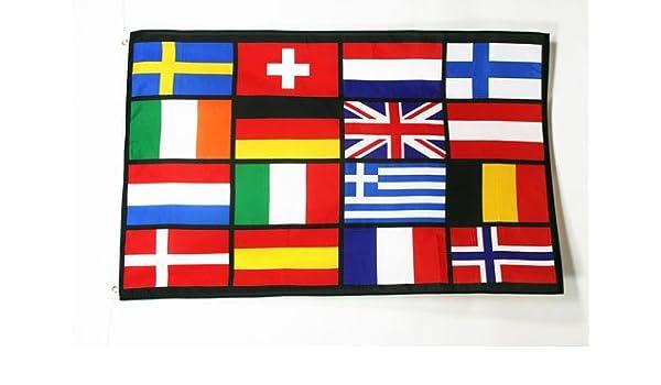 Drapeau laosien 90 x 150 cm AZ FLAG Drapeau Laos 150x90cm Drapeaux