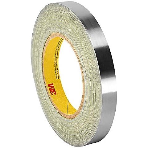 TapeCase 3361 1,43 cm x (0,563 18yd 3361 in argento, ad alta temperatura in acciaio INOX/acrilico-Nastro di foglio in alluminio, 30 a 250 °F  Performance temperatura 0,01 (0,0038 yd. spessore 18 cm lunghezza, larghezza 1,43 (0,563 cm