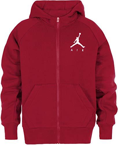 Nike felpa con cappuccio e zip bambino jordan rossa