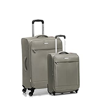 Roncato Live Juego de maletas, 74 liters, Beige