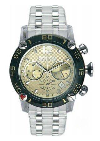 Sweet years/ sy6188m/21m orologio cronografo tondo in acciaio e quadrante oro