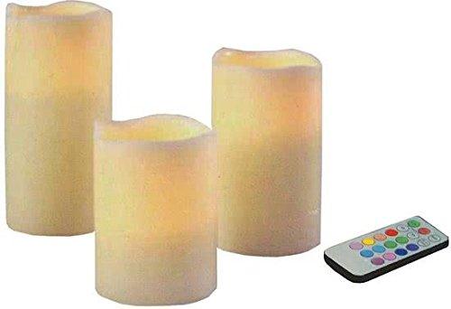 Bougies LED - 3 pieces - Couleur changeante