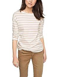 Esprit 026EE1K033 - T-shirt - À rayures - Manches 3/4 - Femme