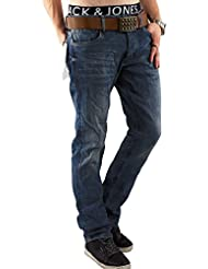 JACK & JONES Herren Jeans Hose jjiCLARK 432 Used Look Denim Regular Fit