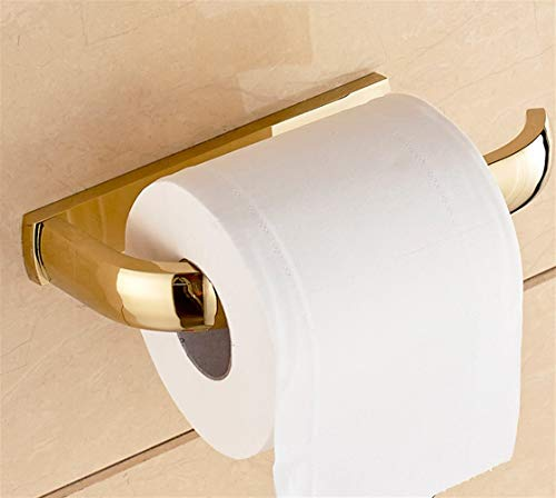 SFOP Kostenlose Nagel vergoldet Papierhandtuchhalter Rose Serie Toilettenpapier Flugzeug alle Bronze Badezimmer Hardware Badezimmerzubehör Rahmen -