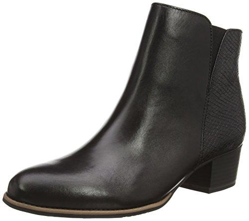 Jana 25302, Bottes Chelsea courtes, doublure froide femme Noir - Schwarz (schwarz (BLACK 001 ))