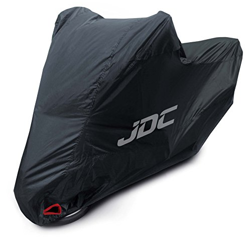 JDC Motorcycle 100% Waterproof Cover - ULTIMATE HEAVY DUTY - LARGE (Extra Heavy Duty, Soft Lining, Heat Resistant Panels, Taped Seams)