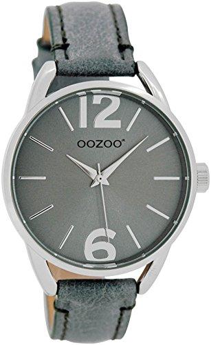 Oozoo Damen-/Kinderuhr mit Lederband 38 MM Graublau/Graublau JR282