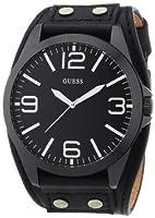 Reloj Guess W0181G2 de cuarzo para hombre con correa de piel, color negro de Guess