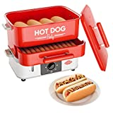 HOT DOG WORLD - Großer Party Hot Dog Steamer, Hot Dog Maker