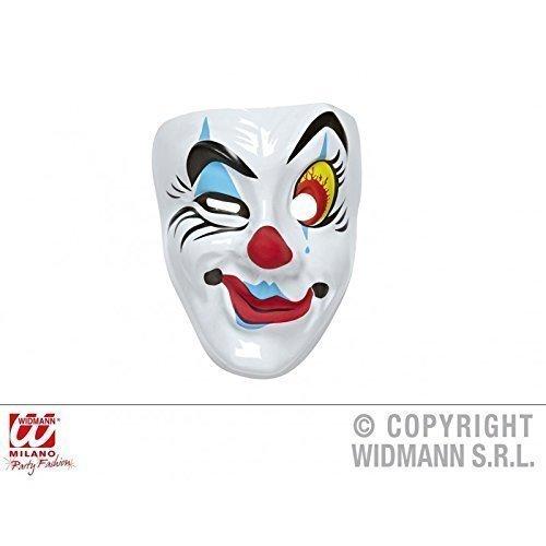 Lively Moments Einfache Gesichtsmaske Clown Maske rot - gelb - blau - ()