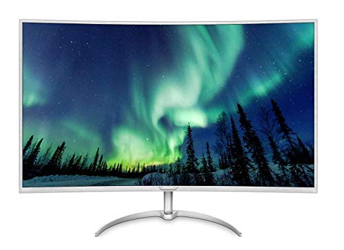 Philips BDM4037UW/00 101 cm (40 Zoll) Monitor (VGA, 2x HDMI, 2x Displayport, USB-Hub, 4ms Reaktionszeit, 3840 x 2160, 60 Hz, Curved) silber