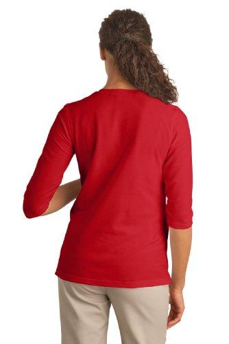 Autorità portuale L561M tatto per gravidanza, da donna, maniche a 3/4, camicia, collo a V Rosso