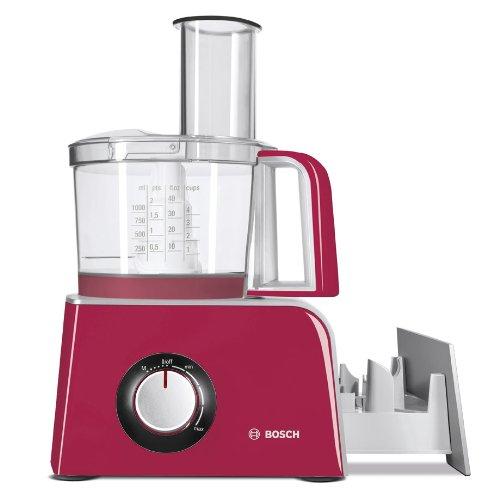 Bosch MCM42024 – Procesador de alimentos con accesorios, 800 W, Color rojo
