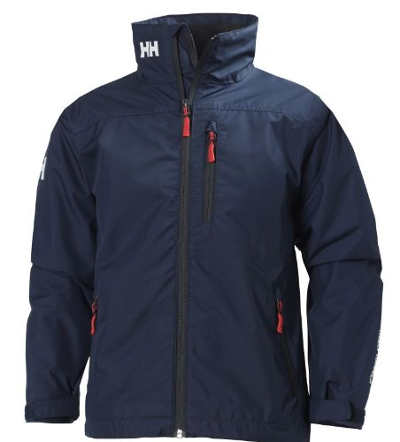 Helly Hansen Kinder Jacke JR Crew Midlayer Jacket, Evening Blue, 12, 40239