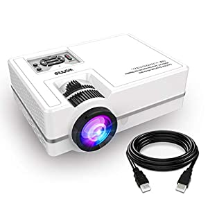 Projector?2400 Lumens WONNIE LED Portable HDMI 1080P Full HD Video Mini Home Cinema Projector for PS4 Laptop iPad iPhone TV