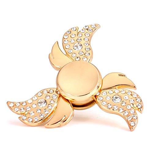 Preisvergleich Produktbild BZLine® Fidget Hand Spinner, Diamant Finger Spinner Rainbow Spielzeug, Gold