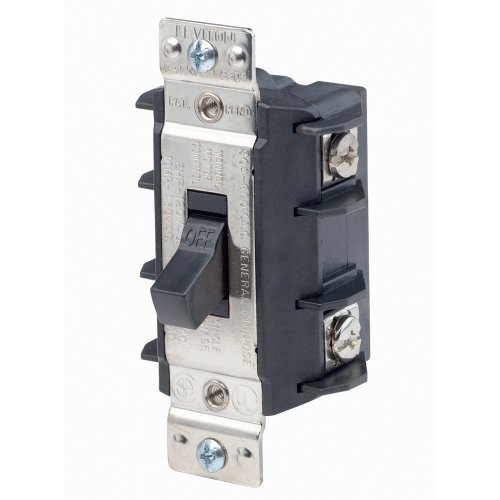 Leviton MS302-DS 30 Amp, 600 Volt, Double- Pole, Single Phase AC Motor Starter, Suitable as Motor Disconnect, Industrial Grade, Non-Grounding, Black by Leviton