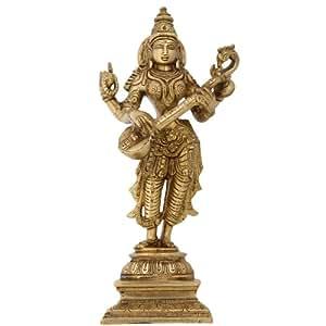 Messing metallkunst stehende statue der hindu g ttin for Indische dekoartikel