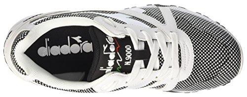 Diadora N9000 Arrowhead, Sneaker Basses Mixte Adulte, Opt. White/Black Blanc Cassé (Bianco Ottico/nero)