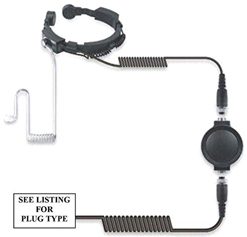 Motorola Heavy Duty Kehlkopfmikrofon & Ohrhörer Schallschlauch Covert - Xtn Xtni Xtnid (Motorola Ohrhörer Funkgerät)