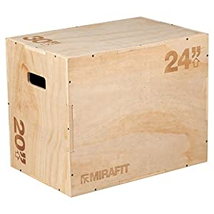 Mirafit 3-in-1 Plyobox Sprungbox aus Holz