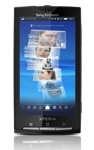 Sony Ericsson Xperia X10 Smartphone (10,1 cm (4 Zoll) Touchscreen, Android 2.3 OS, Timescape, Mediascape, 8.1 MP Kamera, GPS) Sensuous Black (Ericsson Sony Android)