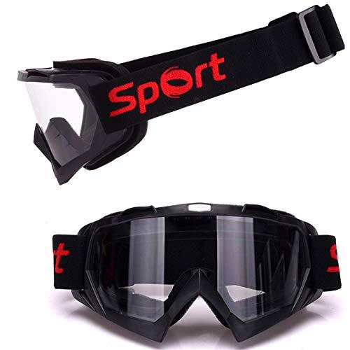 L.Z.HHZL Schutzbrille Motorradbrillen für Männer und Frauen Helm Sanddichtes Cross Country Brillen Set Outdoor Skibrillen Sonnenbrille (Color : Clear)