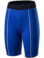 pantalones de entrenamiento aptitud de los deportes de las mujeres y ajustados pantalones cortos pantalones cortos de absorción de la transpiración de yoga 2004 , blue , xl