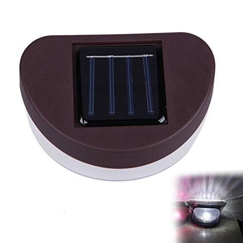 VROSE FLOSI Solar Power Home Garten Sicherheit Lampe Outdoor Wasserdicht 1LED Licht Lampe, weiß, 115.00 * 75.00 * 55.00