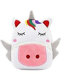RHCPFOVR 5PCS Unicornio Set de regalo - Mochila pequeña para niños pequeños Bolsa de viaje para