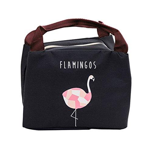 Isuperb borsa termica impermeabile borsa porta pranzo termico lunch bag per adulto e bambini 21×17×15 cm (nero)