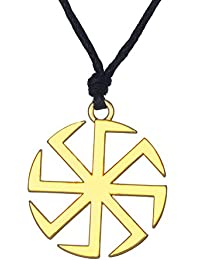 9223fb77bb7 fishhook Wicca Slavi Kolovrat Sun Wheel Symbol for Good Luck Talisman  Pendant Necklace