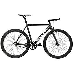 "FabricBike- Bicicleta Fixed, Fixie, Single Speed, Cuadro y Horquilla Aluminio, Ruedas 28"", 4 Colores, 3 Tallas, 9.45 kg Aprox. (Light Matte Black, M-54cm)"