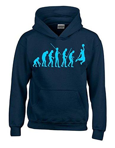 BASKETBALL Evolution Kinder Sweatshirt mit Kapuze HOODIE navy-sky, Gr.140cm