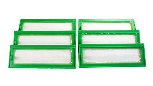 Hannets Hochwertiges Zubehör 6 Hochleistungsfilter I kompatibel mit Vorwerk VR200 Roboterstaubsauger Staubsaugroboter Ersatzset I Premium Kobold VR 200 Zubehör Filter
