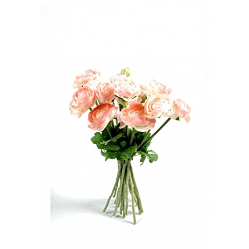 bouquet artificiel renoncules rose - h : 31