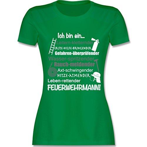 Feuerwehr - Ich bin ein ... Feuerwehrmann! - tailliertes Premium T-Shirt mit Rundhalsausschnitt für Damen Grün
