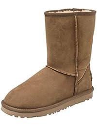 Shenduo Zapatos Invierno Clásicos - Botas de Nieve de Piel Oveja con Lana Interno Impermeable Antideslizante para Mujer D9125