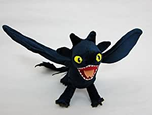 Peluche Furie Nocturne Dragons Dreamworks How to Train Your Dragon Night Fury 45CM longueur