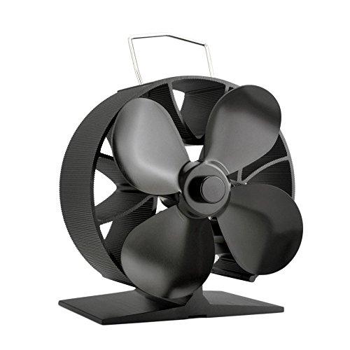 Round 4 Blades Wärmebetriebene Herd Fan Kraftstoffeinsparung Solide Aluminium Herd Fan Umweltfreundliche Premium Herd Fan Gebläse für Zuhause (Blades Fan 16)