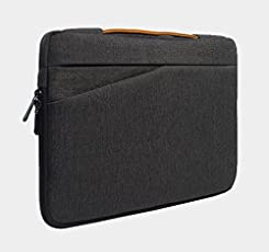 TARKAN Canvas Polyester Laptop,MacBook Air/Pro Sleeve Water-Resistant Bag Case with Handle,Accessories Pocket,15.6inch (SD_TK_LAPSLEEVE_15INCH_GREY)