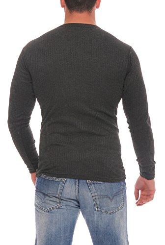 Skiunterwäsche für Herren Thermo Unterwäsche Set Hemd/Hose, 2 Lange Unterhosen oder 2 lange Unterhemden, angeraut anthrazit, grau, Grössen 5 bis 10 lieferbar 2 Hemden anthrazit