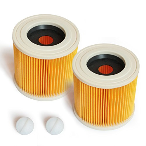 MI:KA:FI 2x Patronenfilter | für Kärcher Mehrzwecksauger + Nass-/ Trockensauger + Waschsauger | WD2 + WD3 + WD2.200 + WD3.200 + WD3.300 M + WD3.500 P + SE 4001 + SE 4002 | wie 6.414-552.0
