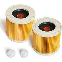 MI:KA:FI 2x Filtro de cartucho | para Kärcher Aspiradora en seco y húmedo | WD2 + WD3 + WD2.200 + WD3.200 + WD3.300 M + WD3.500 P + SE 4001 + SE 4002 | como 6.414-552.0