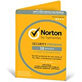 Norton Security Premium 3.0 - 25GB, 1 User, 10 Devices, 12 Months License Card (PC/Mac)