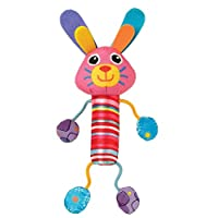 Lamaze Cheery Chimes Bunny Rattle Baby Toy, Multi Color, Lc27627