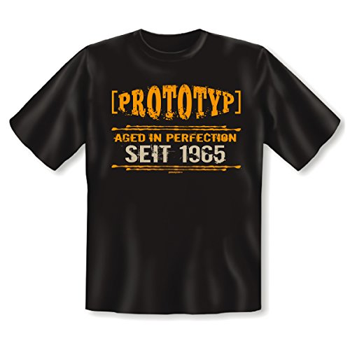 witziges und tolles 50. Geburtstags t-shirt Farbe: schwarz (PROTOTYP) AGED IN PERFECTION SEIT 1965 Schwarz