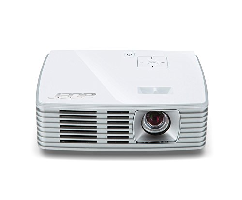 Acer K135i DLP-LED-Projektor (WXGA, HD. Ready, Kontrast 10.000:1, 1.280 x 800 Pixel, 600 ANSI Lumen, HDMI/MHL Anschluss, nur 0,43kg, 1GB internen Speicher, Inkl.Acer Wireless Dongle) weiß