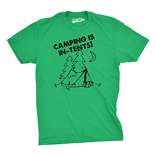 Crazy Dog Tshirts Camping is In Tents T Shirt Funny Intense Camping Outdoors Hiking Camp Tee (green) L - herren - L (Mädchen-pfadfinder-verdienst-abzeichen)